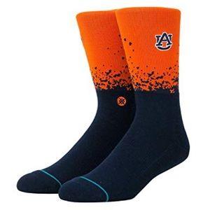 Stance Auburn Tigers Dip Crew Socks Large 9-12